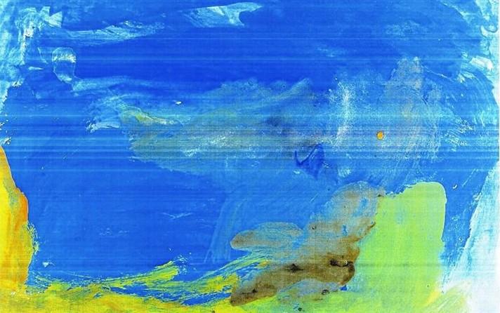 Pictură abstractă realizată de tânar cu autism