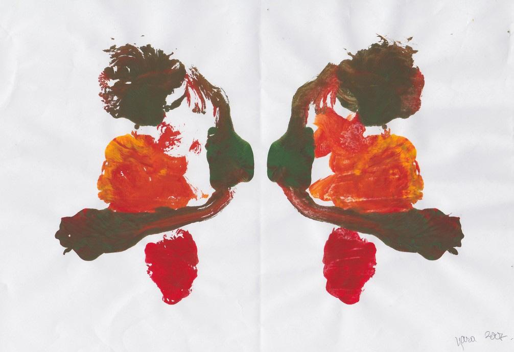 Desen in oglindă realizat de copii