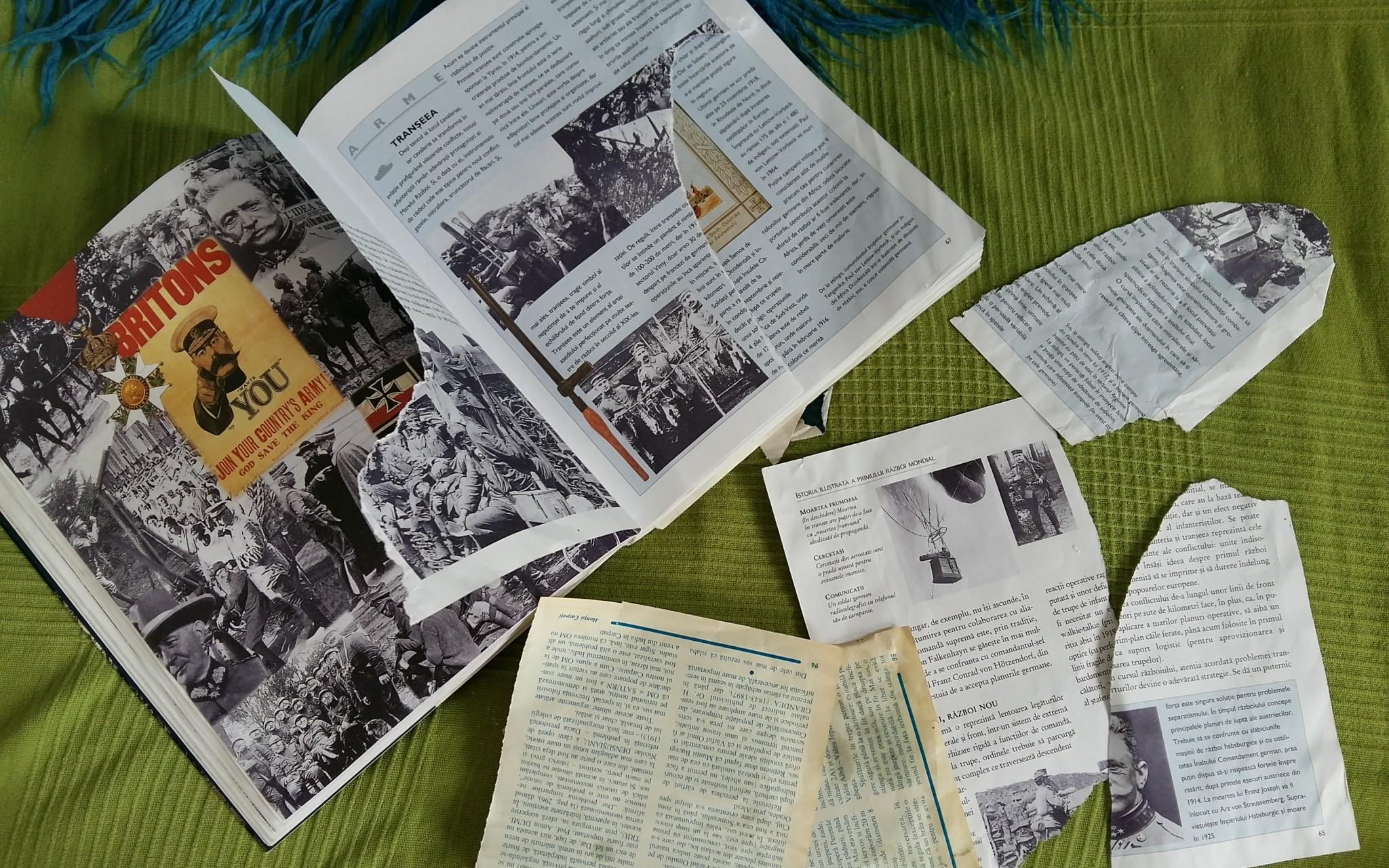 Pagini rupte si murdarite din diverse cărți și reviste de istorie