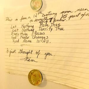 bilet scris de mână