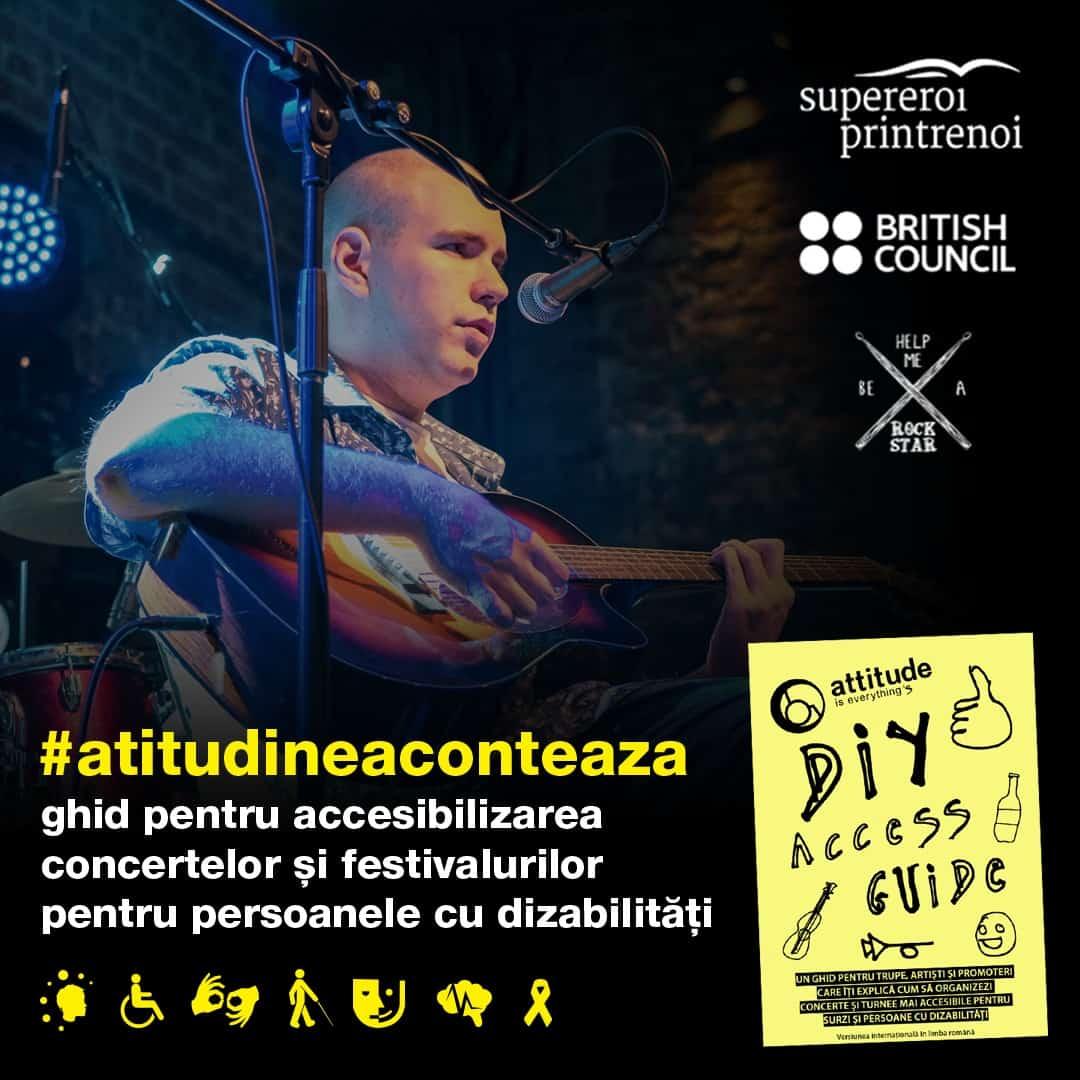 Primele ghiduri pentru concerte și festivaluri accesibile, disponibile în România